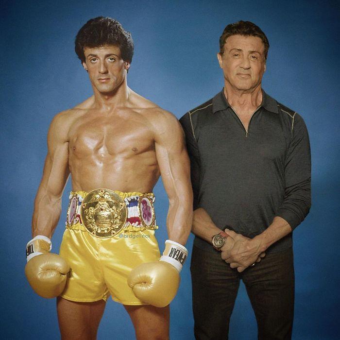 Sylvester Stallone y Rocky Balboa