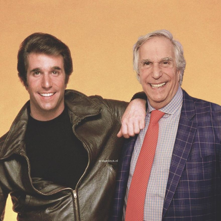 Henry Winkler And Fonzie