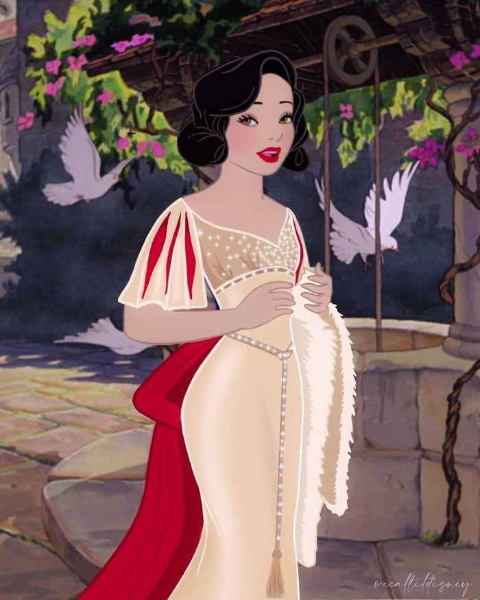Artist Provides Disney Princesses A New Look (9 Transformations)