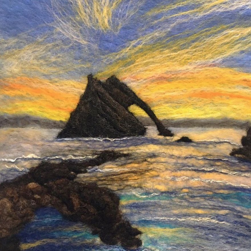 Bow Fiddle Rock At Sunset
