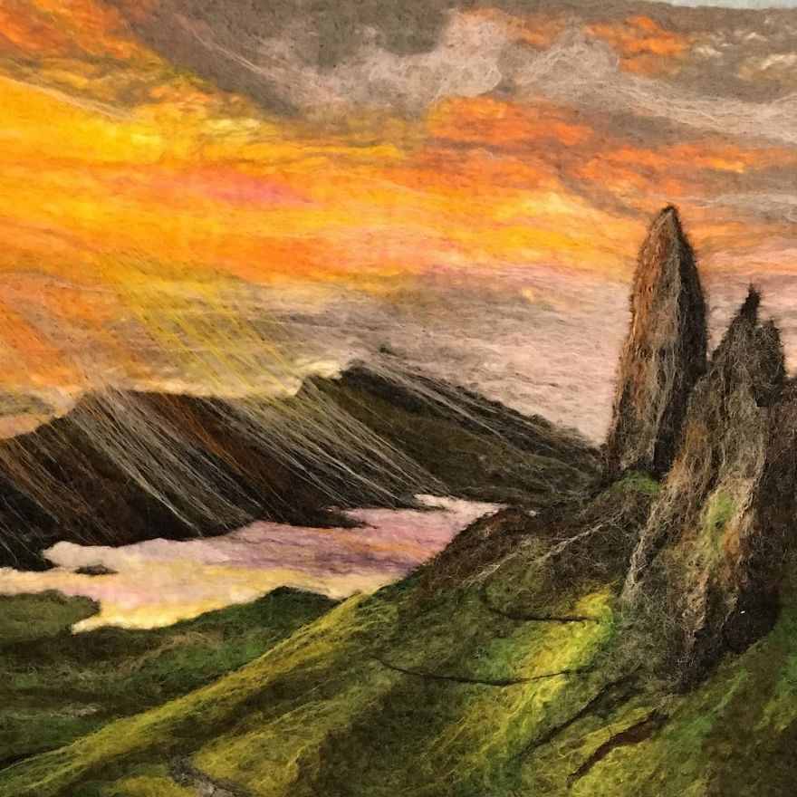 Sunset At The Quiraing, Skye
