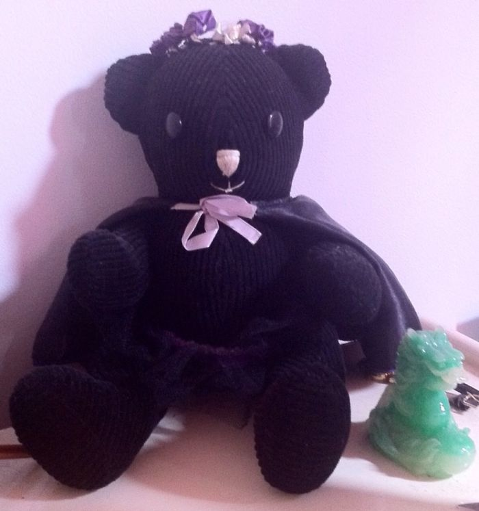 Lulu The Bear. Made Her 20 Years Ago For My Daughter And She Still Looks As Good As The Day I Made Her