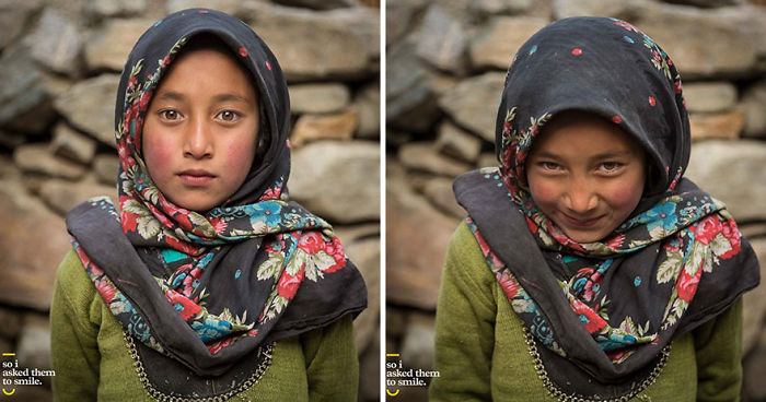 10 Pics Of People Before And After They Were Asked To Smile (New Pics)