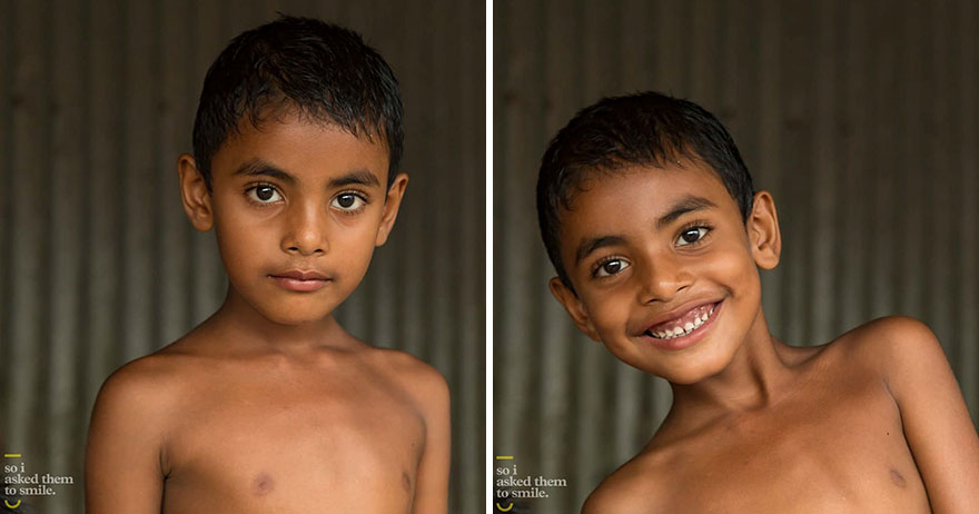 Photographer For 7 Years Shows How A Smile Can Transform A Person
