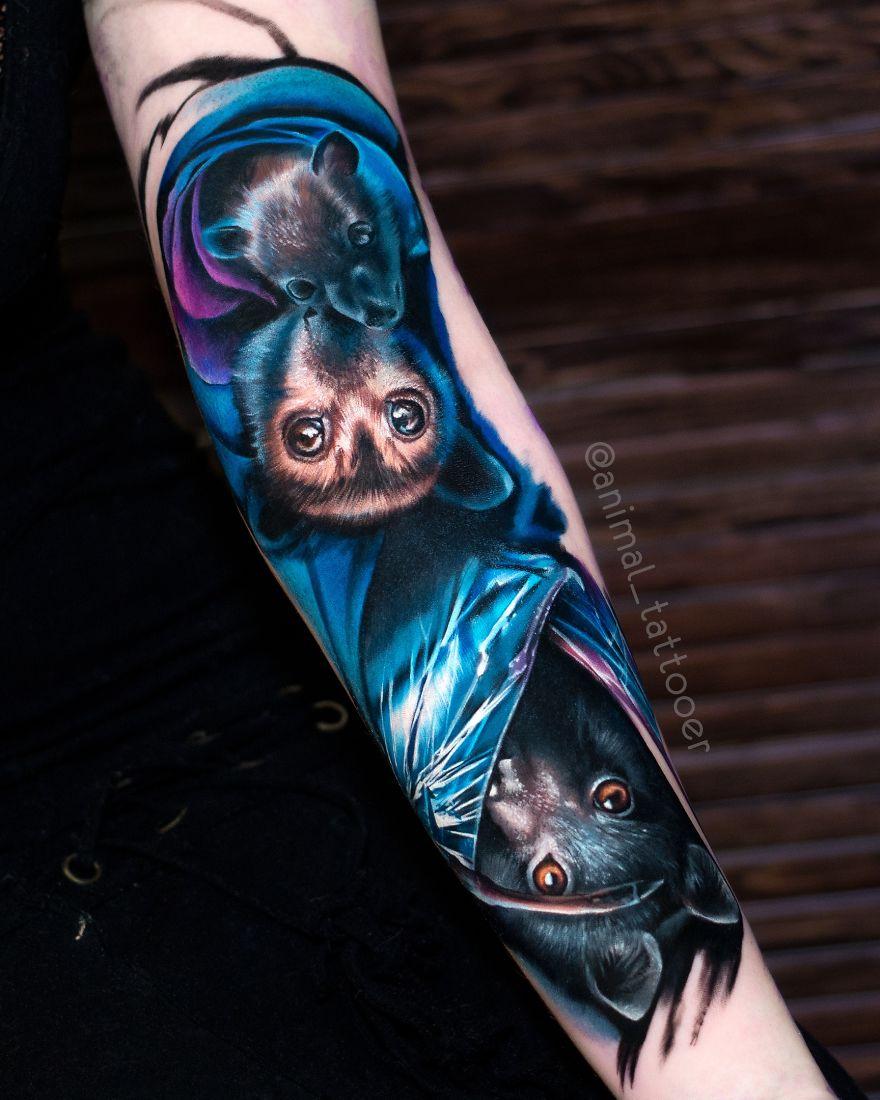 Russian Tattoo Artist Makes Amazing Realistic Tattoos Animal