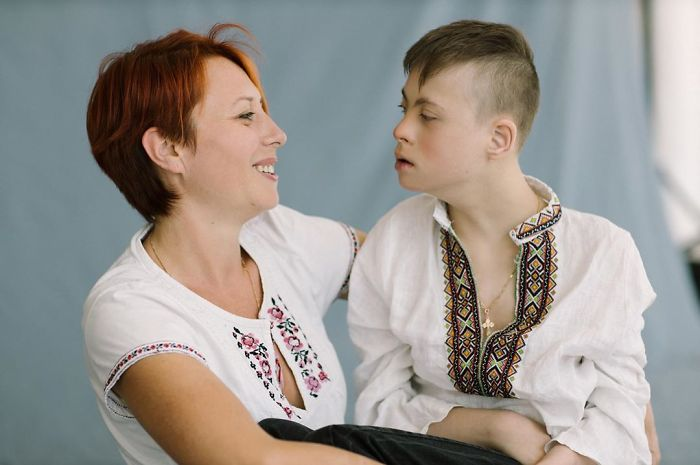 Mother Tatiana And Son Vladimir, 14 Years Old, Down Syndrome, Tetraparesis, Epilepsy