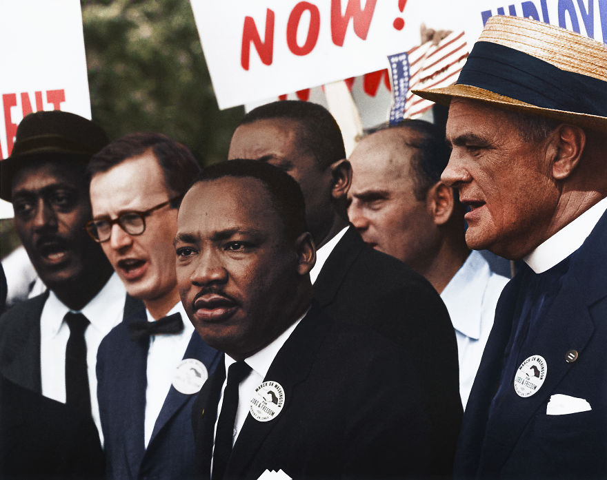 Dr. Martin Luther King, Jr. And Mathew Ahmann In A Crowd