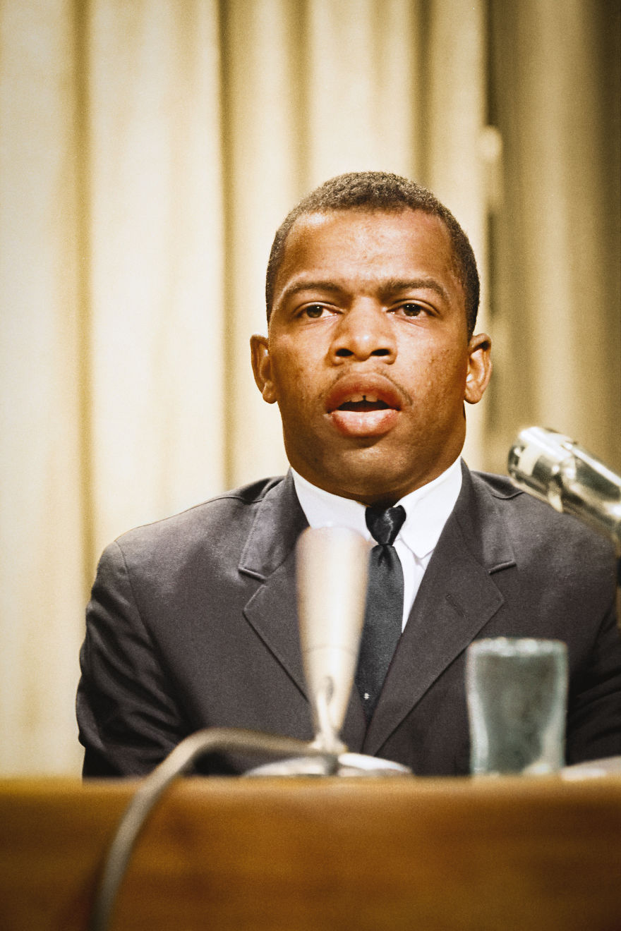 John Lewis Speaking At A Meeting Of American Society Of Newspaper Editors, Statler Hilton Hotel, Washington, D.c.