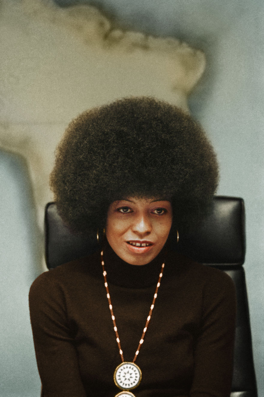 Angela Davis, Half-Length Portrait