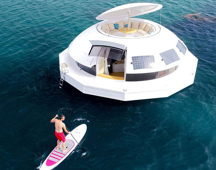 This Floating Pod Is A Certified Boat With Accommodation Inside That Can Be Used For Sailing