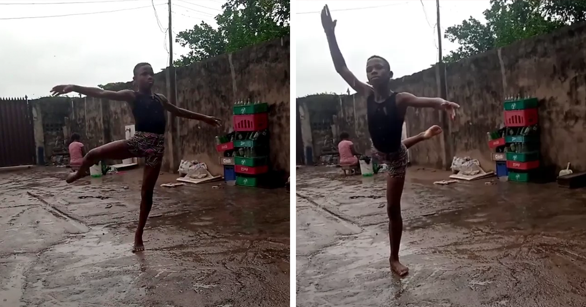This Viral Video Of A Boy Practicing Ballet In The Rain Earned Him A Scholarship To Us Summer Workshop - bored panda