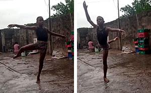 Este chico nigeriano de 11 años recibe una beca de la Escuela de Danza de Nueva York después de que su actuación descalzo se volviera viral