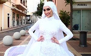Este fotógrafo captó el momento exacto de la explosión en Beirut durante una sesión de fotos de boda