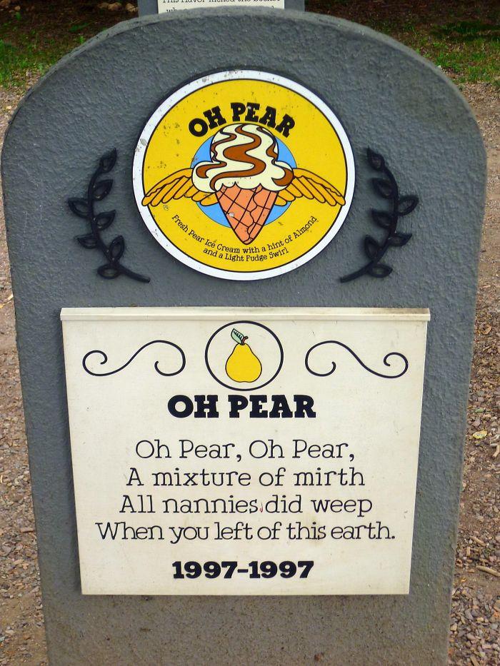 Ben & Jerry's Flavor Graveyard: Oh Pear