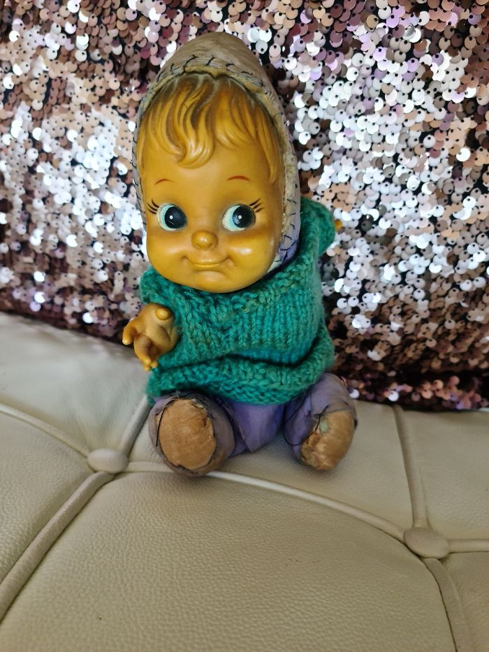Duimelotje.....almost 45 Years Old. Knitted The Sweater Myself When I Was About 6 Years Old