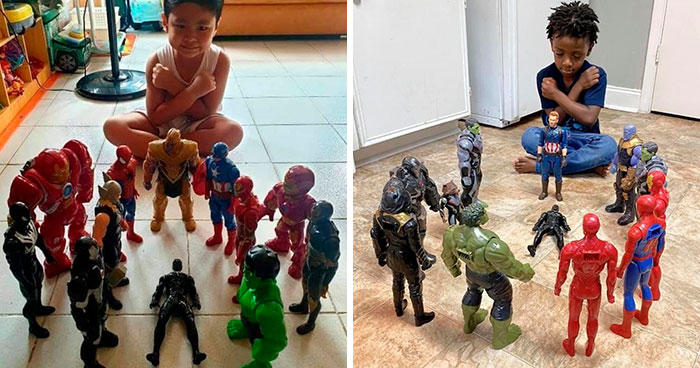 Kids Are Honoring Late Black Panther With Action Figure Memorials And Here Are 20 Of The Most Heartbreaking Photos