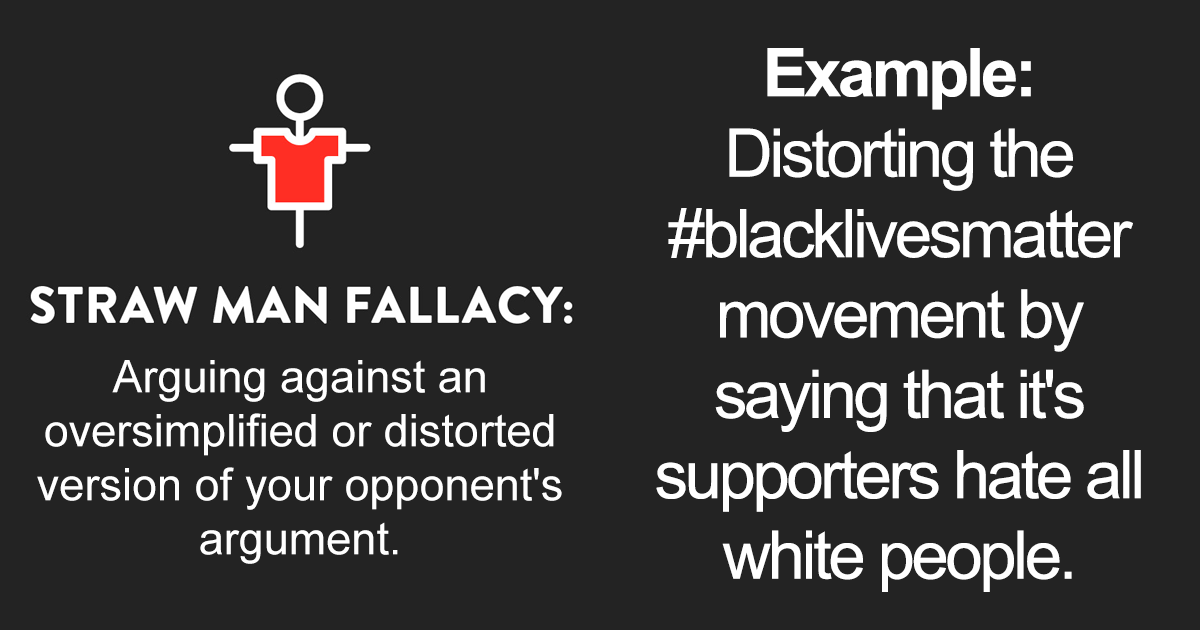 Woman Lists '5 Common Logical Fallacies' People Make When Arguing About BLM - bored panda