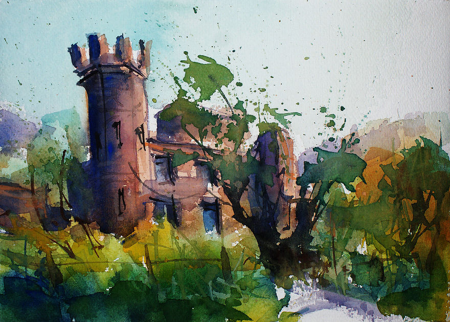 Ireland In Sketches & Watercolors