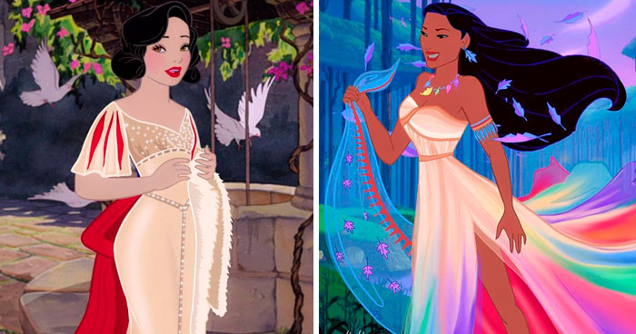 Artist Gives Disney Princesses A New Look (9 Transformations)
