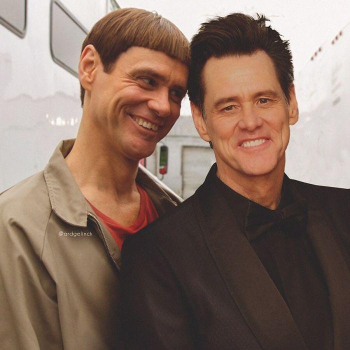 Jim Carrey y Lloyd Christmas