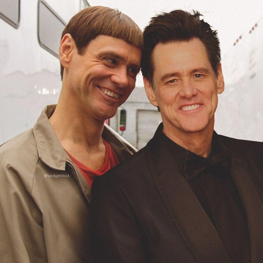 Jim Carrey And Lloyd Christmas