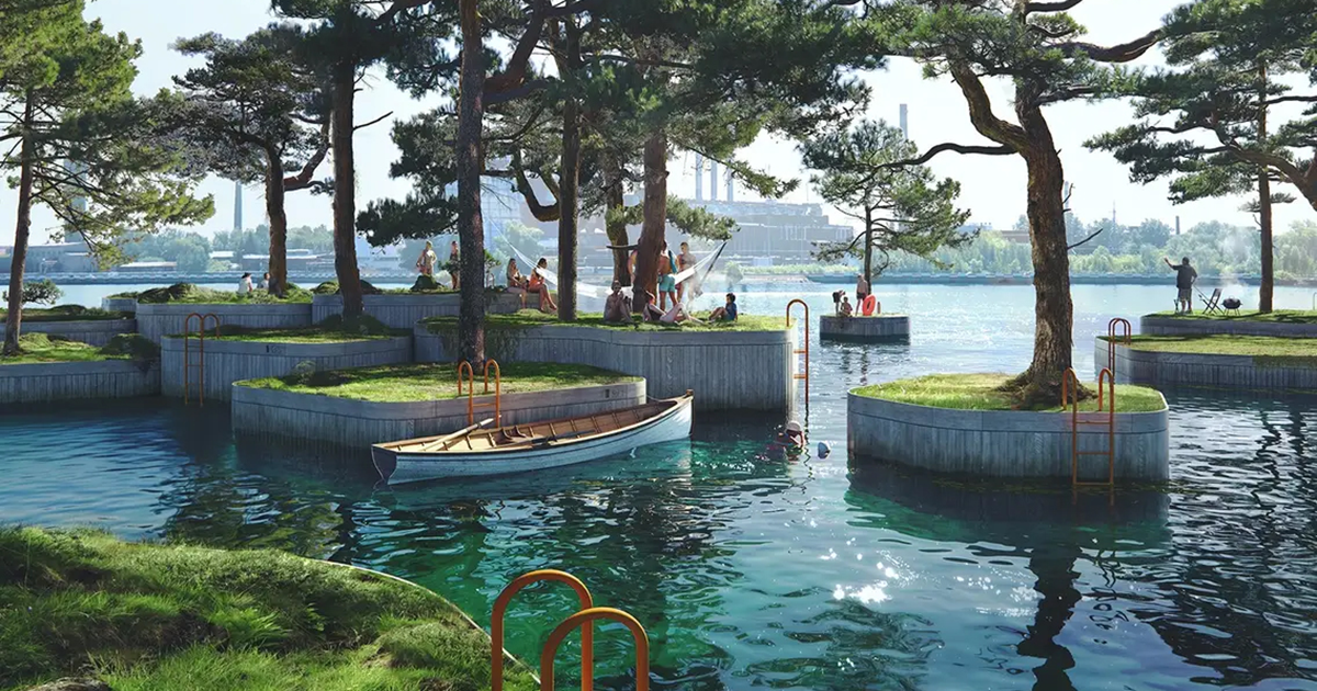 These Floating Islands Will Bring A New Type Of Public Park To Copenhagen
