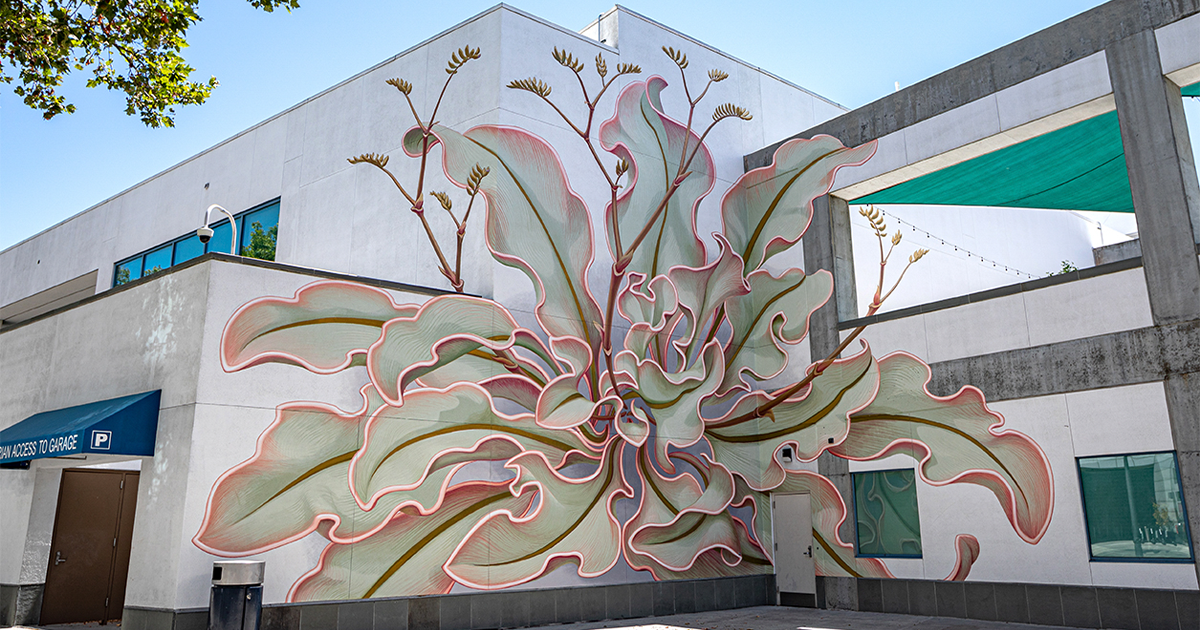 This San Francisco-Based Muralist Painted A Fascinating Marsh Rosemary On Six Walls Of The San José Mcenery Convention Center Building - bored panda