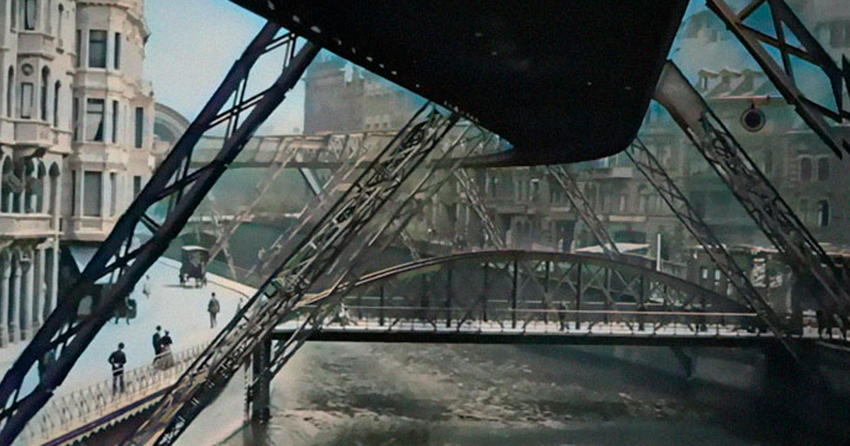 This Colorized 1902 Footage Allows You To Ride Through A German Town On 'The Flying Train'
