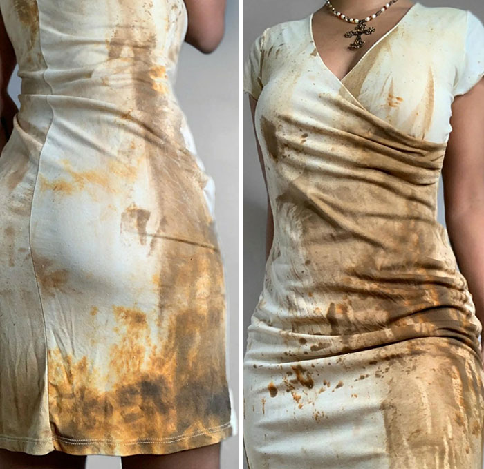 "This ""Muddy Waters"" Poop Dress I Found On Depop"