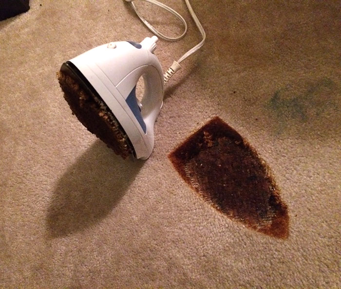 Roommate Left The Iron On