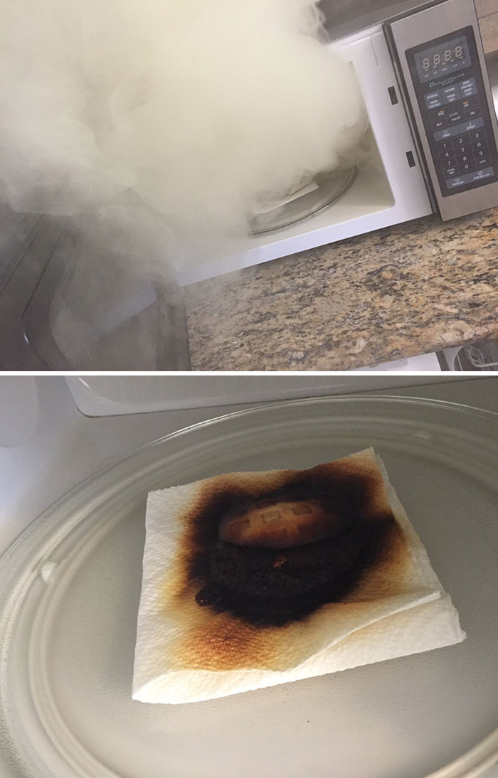 I Tried To Microwave A Sandwich And There Is A Big Difference Between 4 And 5 Minutes