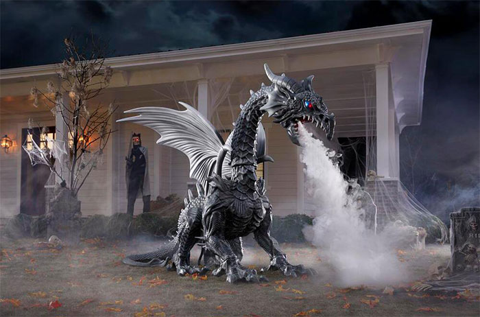 Home Depot Announces Halloween Season With Their Smoke-Breathing Yard Dragon And It Costs $399
