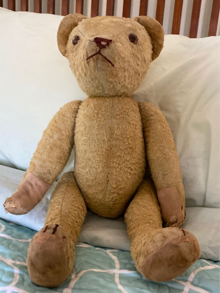 This Teddy Bear Was Bought By My Parents Before I Was Born. He Is Over 60 Years Old...