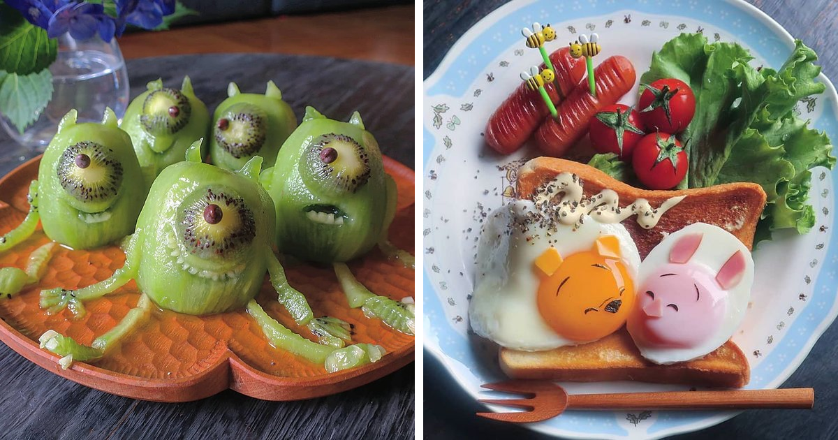 This Mom Of Three From Japan Makes Incredible Meals For Her Kids (83 Pics)