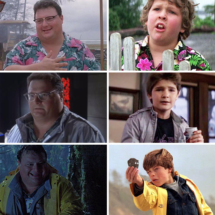 Dennis Nedry From Jurassic Park Wearing Similar Outfits To Characters In The Goonies. Kathleen Kennedy Was The Producer On Both