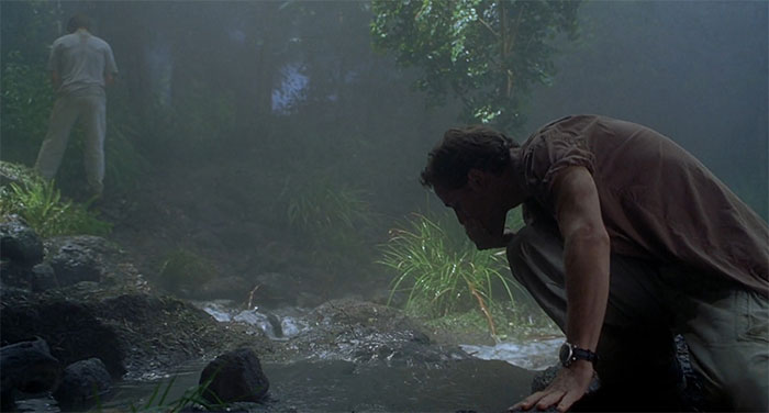 In Jurassic Park III, Mr. Kirby Pees Upstream From Where Billy Is Drinking