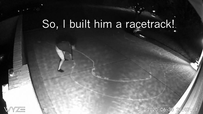 Guy's Security Cam Catches Neighbor Kid Tearing It Up On His Driveway, He Decides To Do Something About It