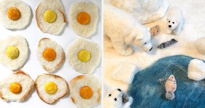 I Make Felted Fake Foods And Cutesy Animals (60 Pics)