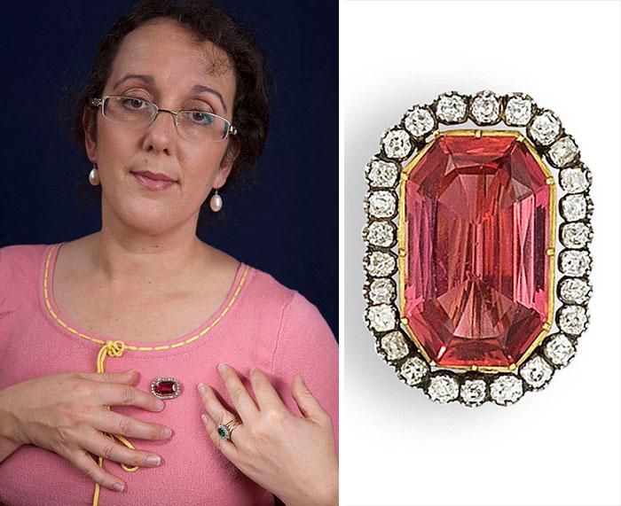 Topaz ring with diamonds—worth £4K
