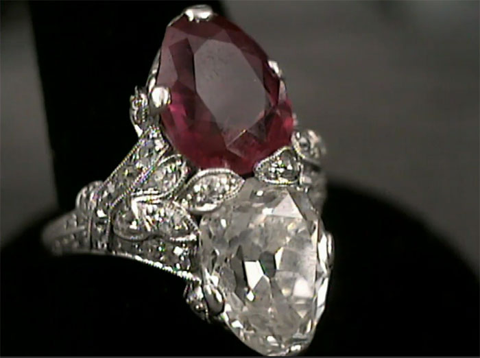 Diamond and ruby ring—worth $400K