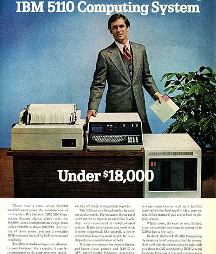 The 1978 Ibm 5110: $18,000