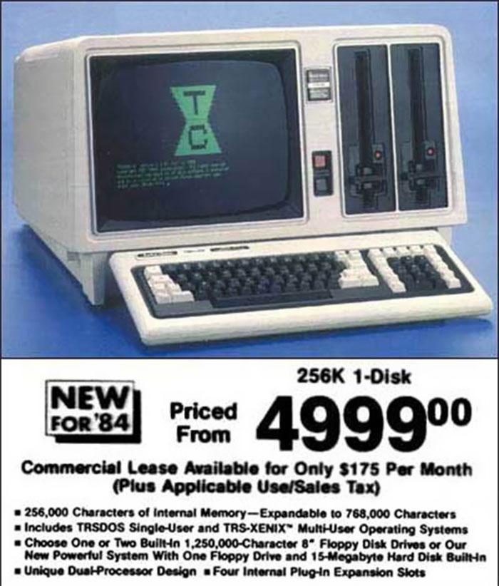 1984 PC Computer Unit: $5,000