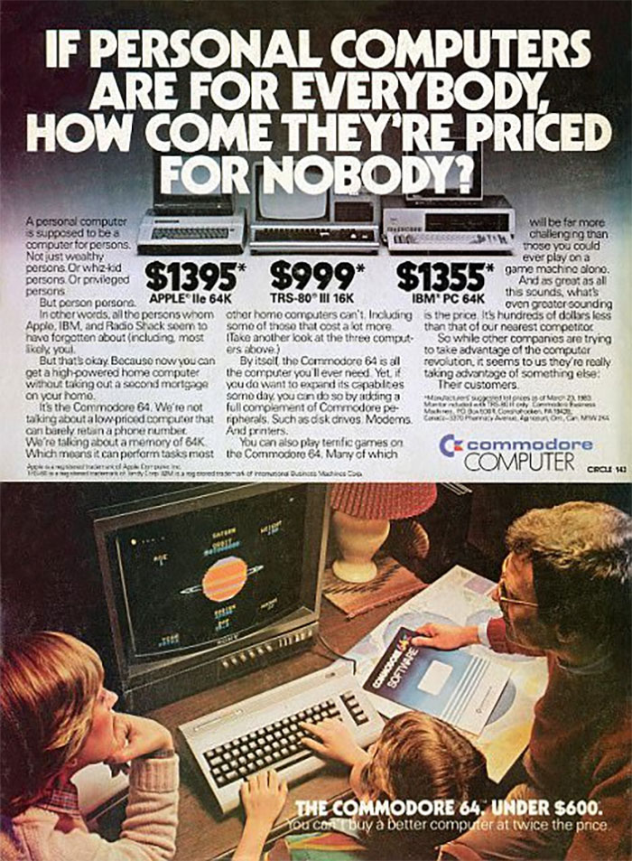 The Commodore 64: $600