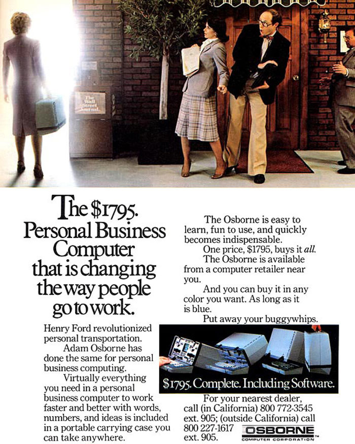 Osborne Computer: $1795