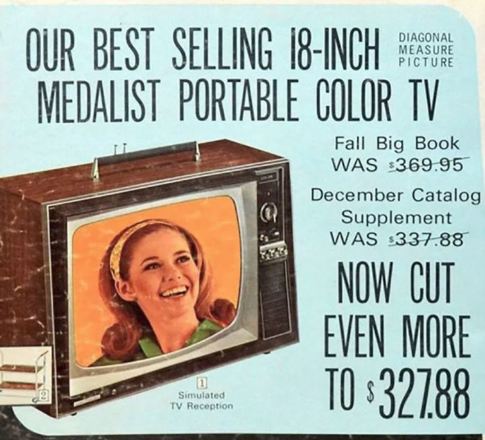 Sears Color TV: $327.88