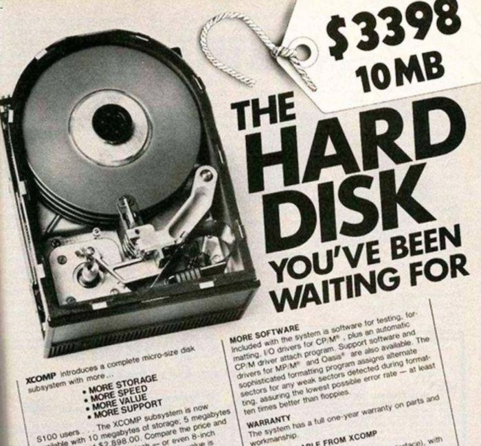 Xcomp 10mb Hard Disk: $3,398.00