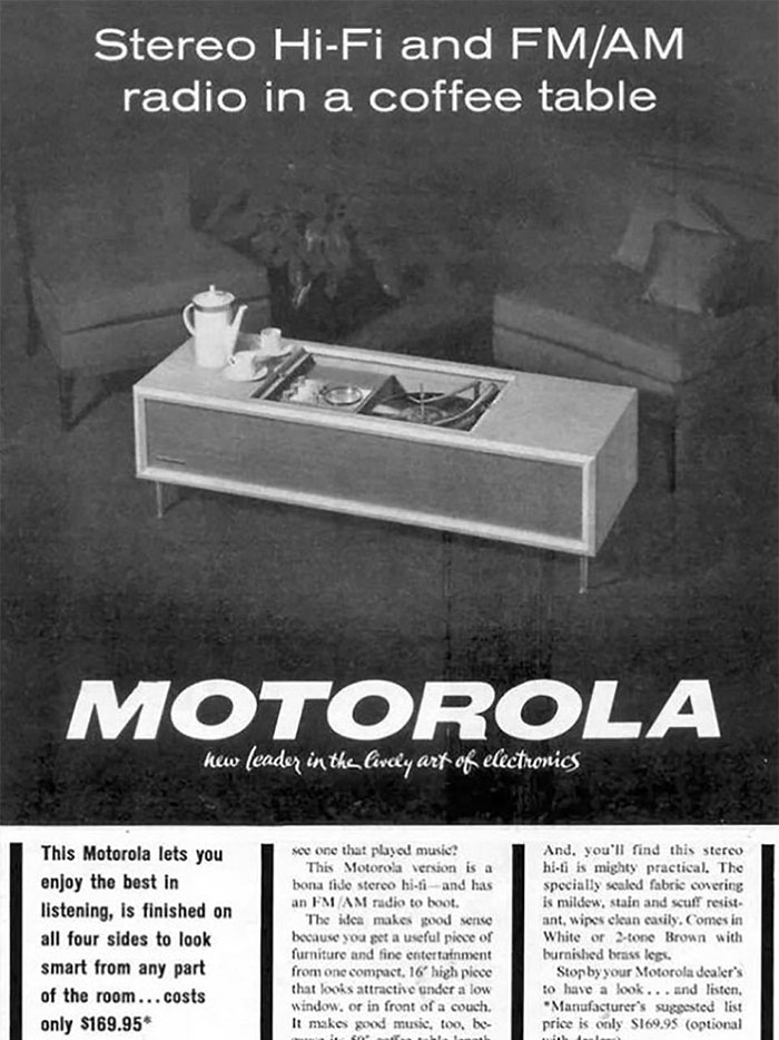 Motorola Stereo Hi-Fi Coffee Table: $169.95