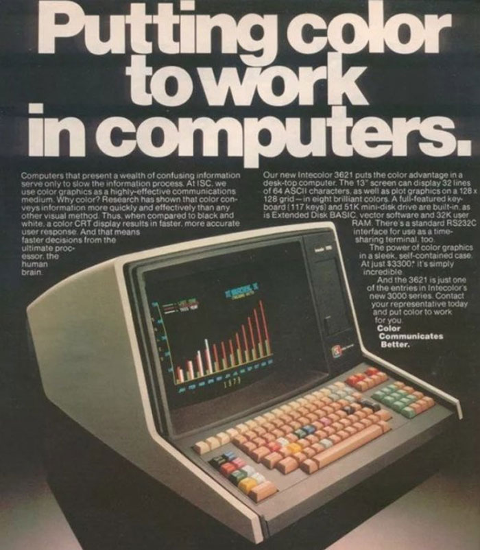 Intecolor 3621 With 51k Disk Drive: $3,300.00