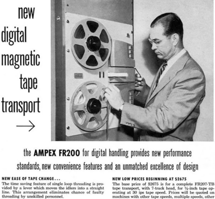 Ampex Fr200 Tape Transport: $2,675.00