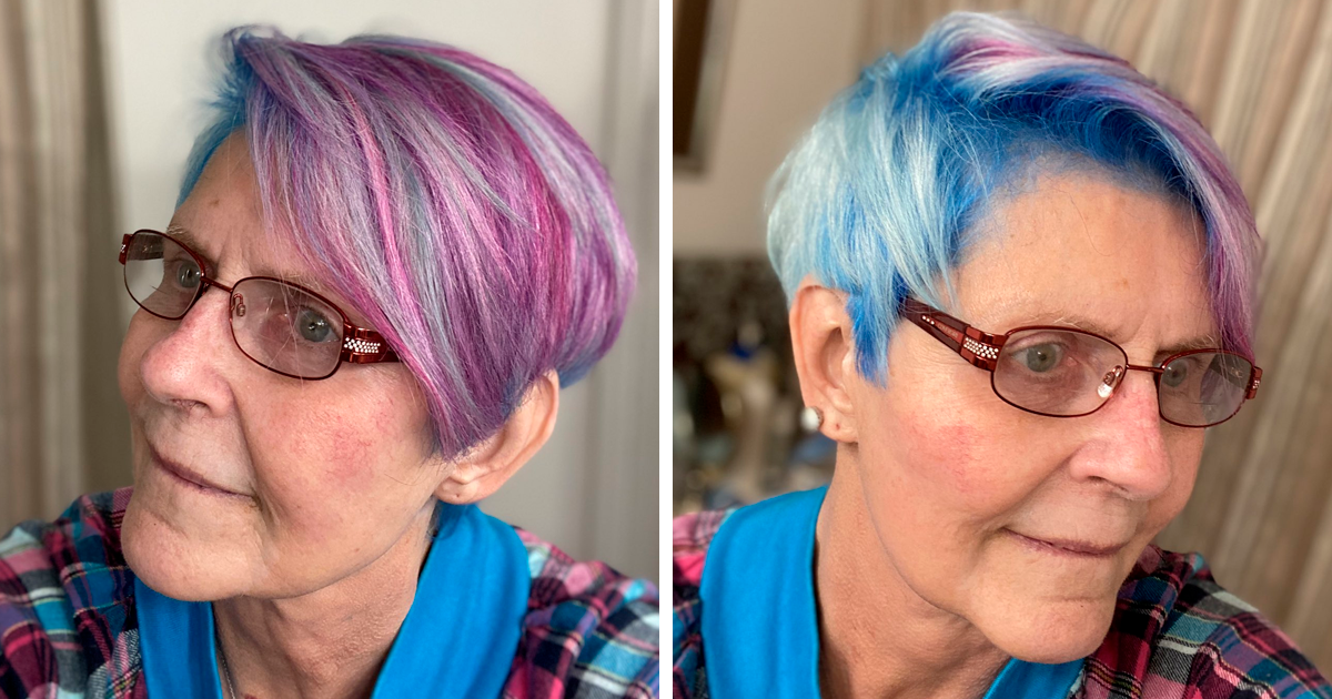 Older People Are Sharing Their Colorful Hairdos On Twitter (60 Pics)
